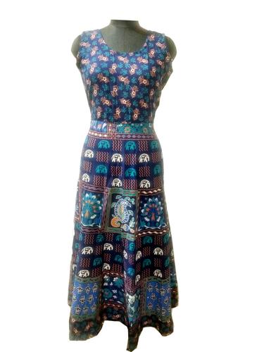 Traditional Full Length Jaipuri Maxi Frock Dress