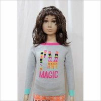 Kids Girl Intarsia Jacquard Sweater