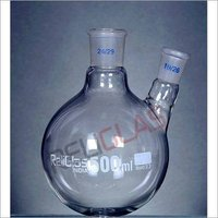 02.351A Round Bottom Flask, Two Neck, Angle