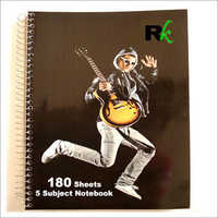 180 Sheets Five Subject Notebook