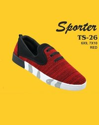 Sporter Men/Boys Canvas Red TS-26 Loafers Shoes