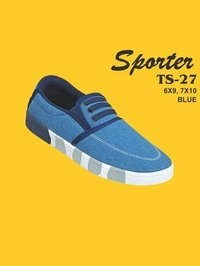 Sporter Men/Boys Canvas Blue TS-27 Loafer Shoes
