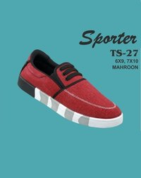 Sporter Men/Boys Canvas Maroon TS-27 Loafer Shoes