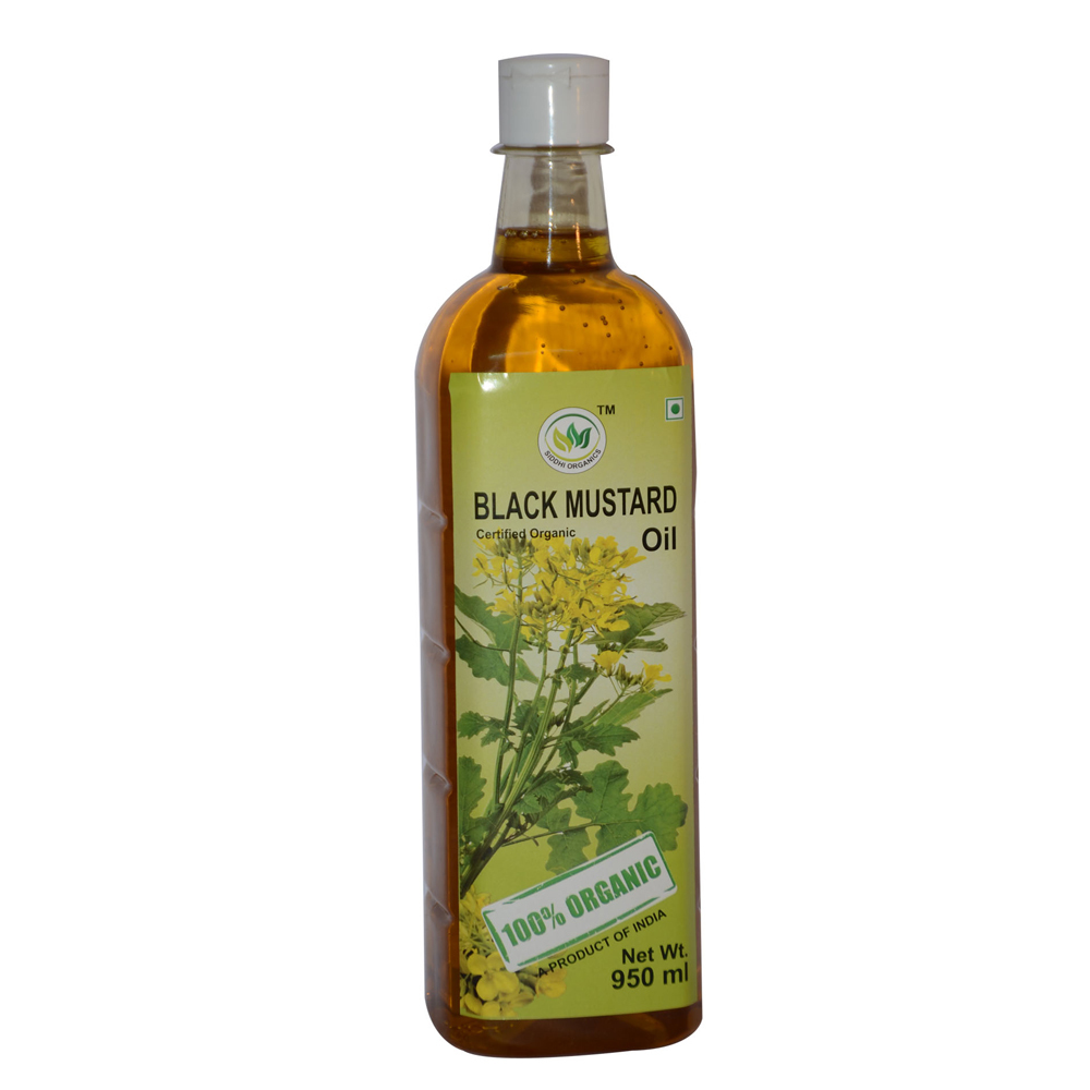 950 Ml Siddhi Organics Black Mustard Oil