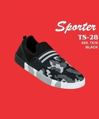 Sporter Men/Boys Canvas Black TS-28 Loafer Shoes