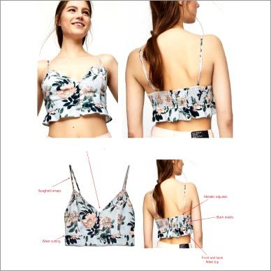 Floral Printed Spaghetti Strap Crop Top