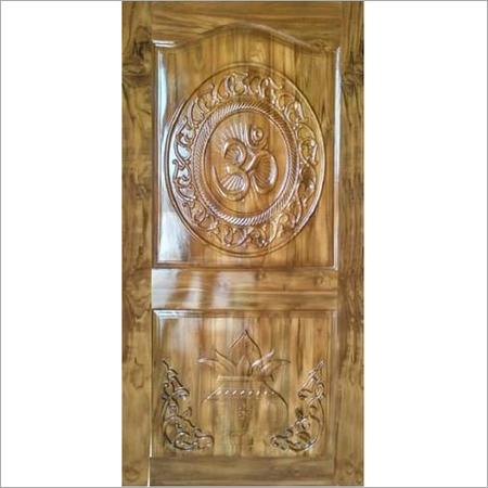 CNC Teak pooja room door
