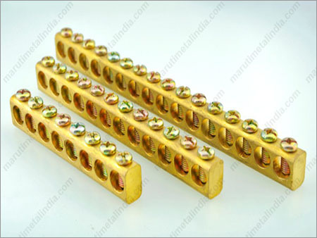 Brass Neutral  Earth Bar