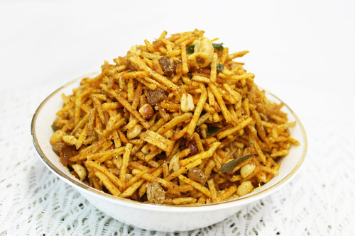 Spicy potato farali chevdo