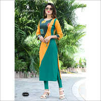 Ladies Multi Color Straight Kurti