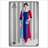 Ladies Casual Wear Straight Kurti