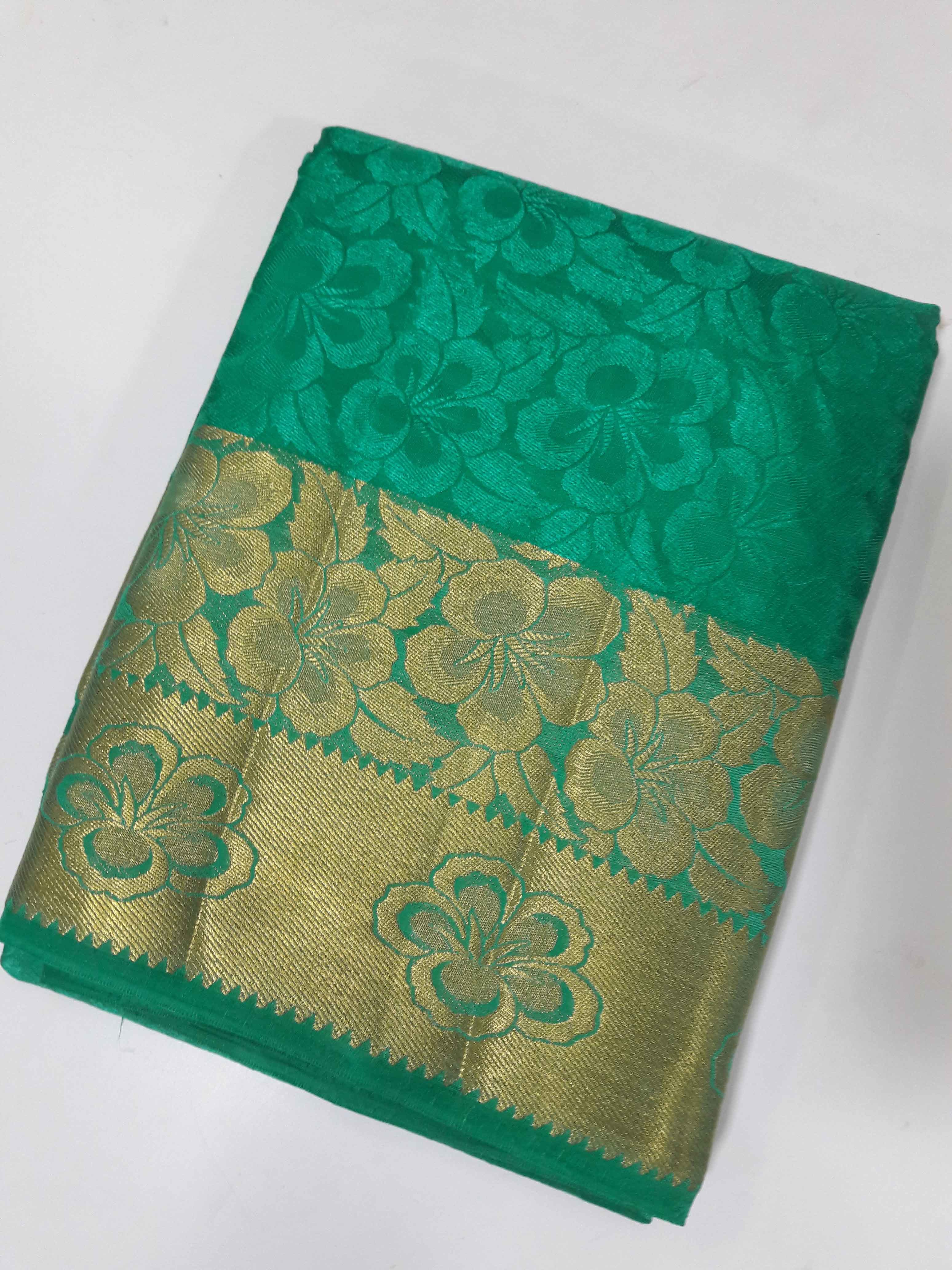 Kanchipuram Art Brasso Self Sarees(Design no 1) With Extra Additional Blouse