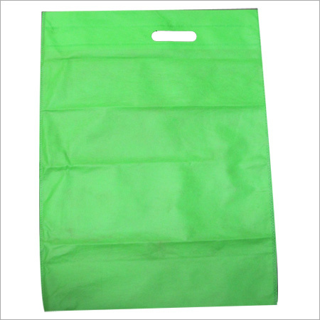 D Cut Non Woven Green Color Bag
