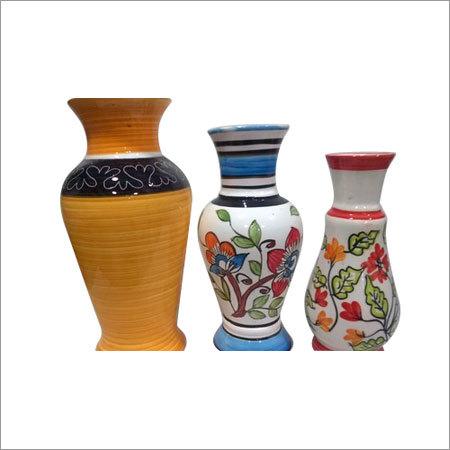 Flower Print Ceramic Vase
