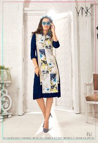 Fancy Digital Rayon Kurtis Online