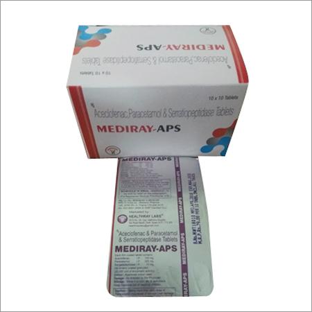 Aceclofenac Paracetamol Seraatiopeptidase Tablets