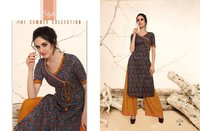Designer Pure Cotton Long Kurti With Plazo Online