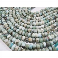 AAA Quality Natural Larimar Rondelle Faceted Beads