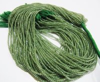 AAA Quality Green Apatite Gemstone Rondelle Faceted Beads