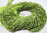 AAA Quality Natural Green Opal Gemstone Rondelle Faceted Beads