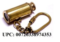 "Brass Telescope Key Chain 3"" - Brass Key Chain - Nautical Gift - Brass Key Ring - Nautical Decor - Brass Telescope Key Ring"