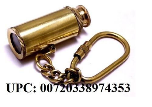 "Brass Telescope Key Chain 3"" - Brass Key Chain - Nautical Gift - Brass Key Ring - Nautical Decor - Brass Telescope Key Ring"
