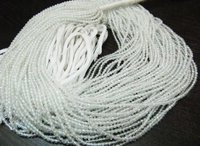 AAA Quality White Topaz Rondelle Faceted Beads