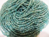 Natural Genuine Blue Apatite Round Plain Beads
