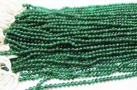 Natural Genuine Green Onyx Round Plain Beads