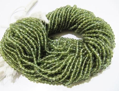 Natural Genuine Green Apatite Round Plain Smooth Beads