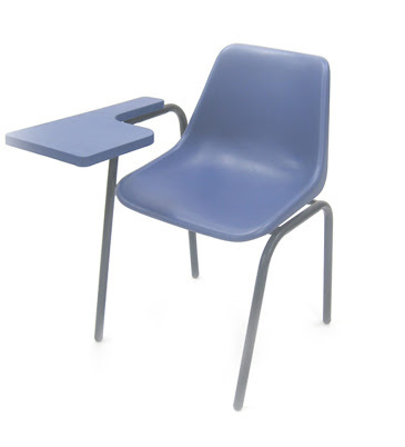 PVC Student Training Institution Writing Pad Chair