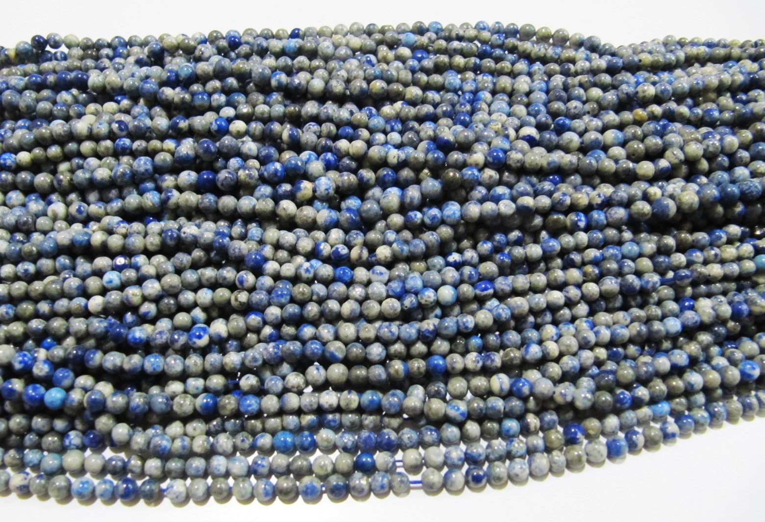 Natural Genuine Lapis Lazuli Round Plain Beads