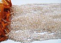 Natural Genuine Citrine Round Plain Smooth Beads .