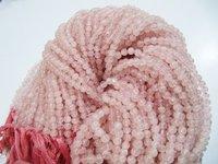 Natural Genuine Rose Quartz Round Plain Smooth Beads