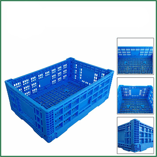 Customized Recycling Plastic Collapsing Folding Storage Basket Box Crate