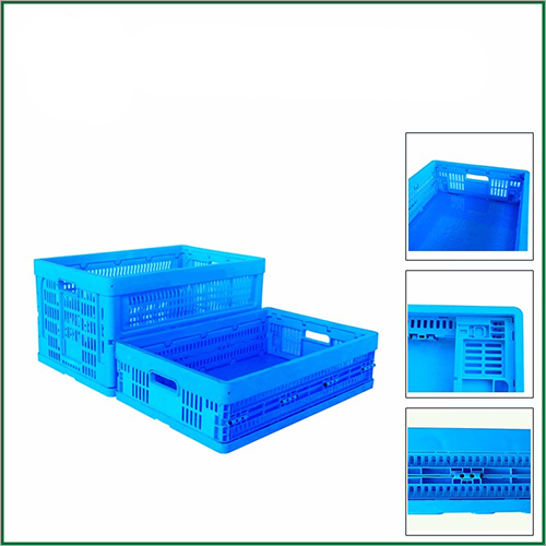 600x400 38L Professional Folding Food Grade Plastic Mesh Crate