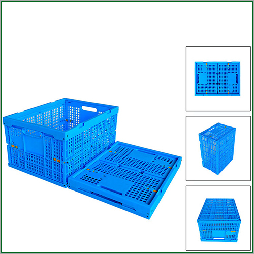 Eco-friendly Durable Vegetables And Seafood Plastic Shipping folding Crates