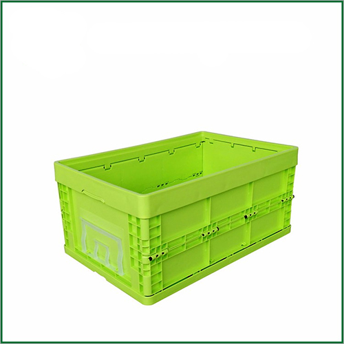 Square Collapsible Straight Wall Foldable Plastic Moving Crates