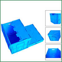 Professional Folding Collapsible Shuttle Bin - Plastic Solid Crate