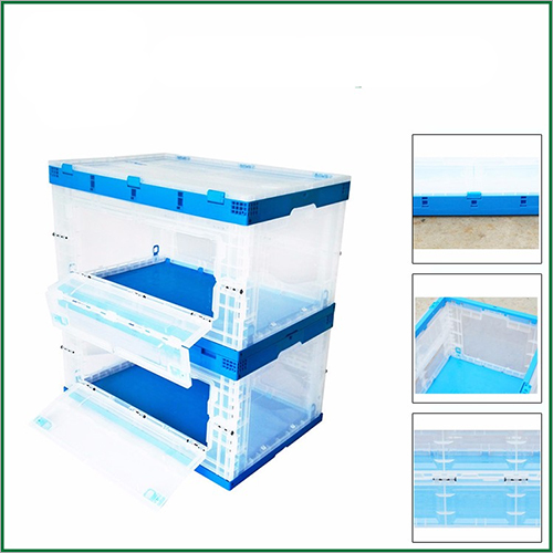 Various Sizes Available Collapsible Delivery Boxes For Clothing Factory With Door