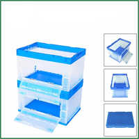 60L Household Hot Sale Cheap Price Foldable Toys Crate With Door