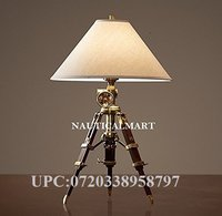 Royal Marine Tripod Table Antique Brass Lamp- Nauticalmart