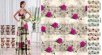 Metallic Satin Digital Printed Fabrics