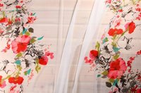 Digitally Printed Organza Fabric