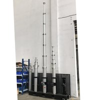 7.7m Aluminum Telescopic Mast-manual Operation/al-ko Winch