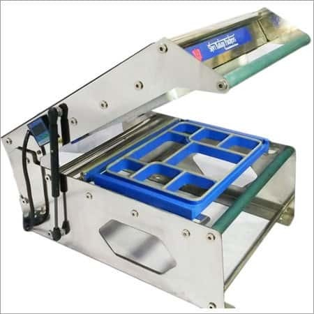 Meal Tray Sealing Machine, Continuous Band Sealer, Double