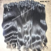 Full Cuticle and Aligned High Quality Human Virgin Indian Temple Human Hair