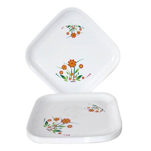 Plastic Microwave Safe Multi Purpose Plate SQUARE PLATE PRINTED BIG