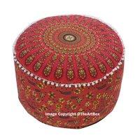 Ombre Mandala Ottoman Pouf cover