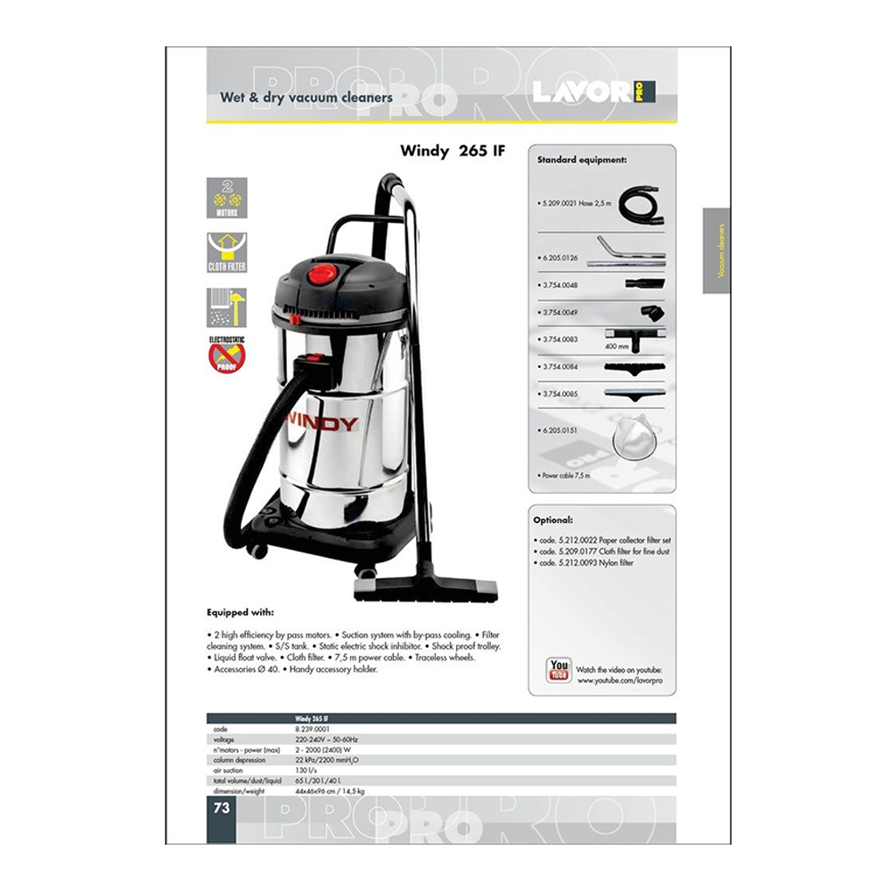 Windy 265IF Wet & Dry Vacuum Cleaner